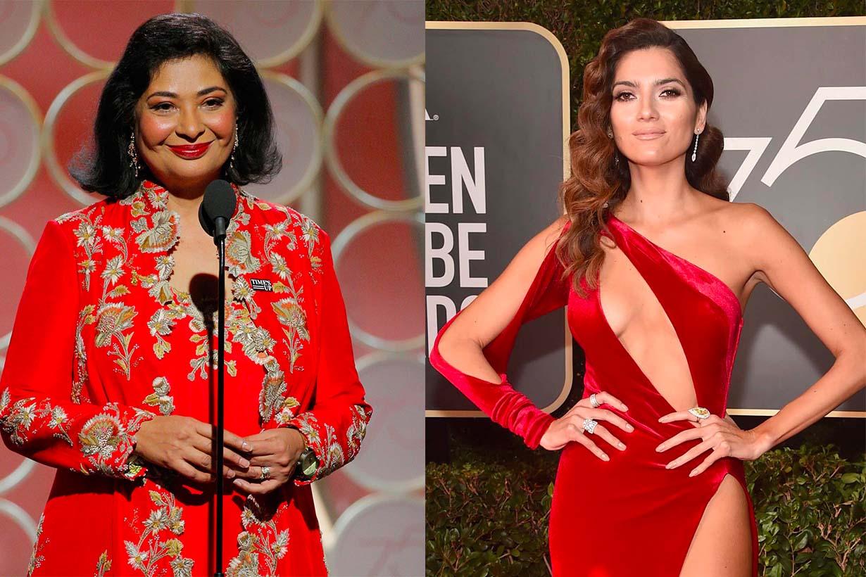 金球獎眾女星黑衣走紅毯 為什麼還是有人選擇一身紅衣出席
