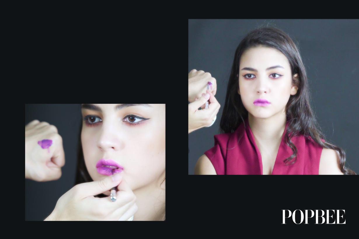 今季大熱的 Ultra Violet 唇妝  原來這麼易就做到了