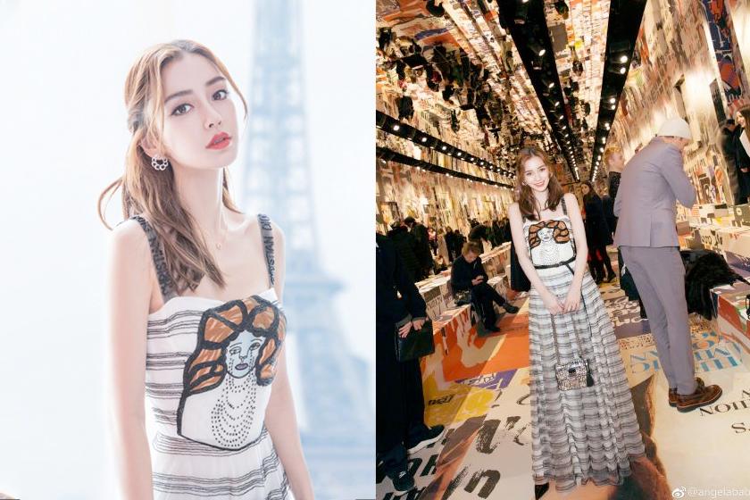 捕捉在巴黎時裝週的 Angelababy 可是女生們都夢想著的仙氣公主 Look