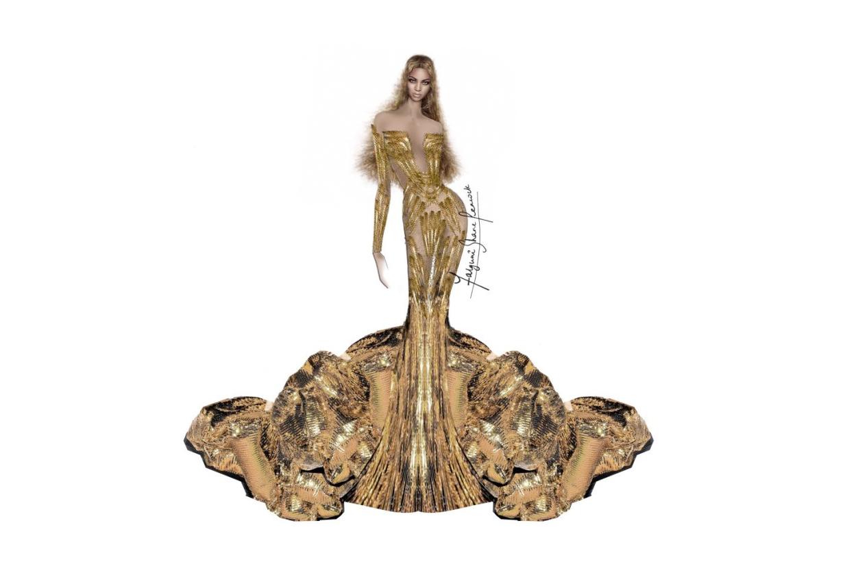 Beyoncé 出席 Art Gala 的訂製服太耀眼 女王風範誰也比不上