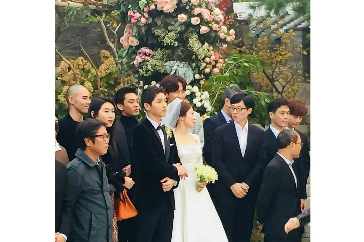 Song joong ki song hye kyo wedding guest bride gaze