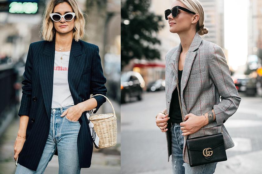 woman wardrobe-essentials Ballet flats  White Tee  white shirt  Striped Tee  skinny Jeans  Little Black Dress  Blazer