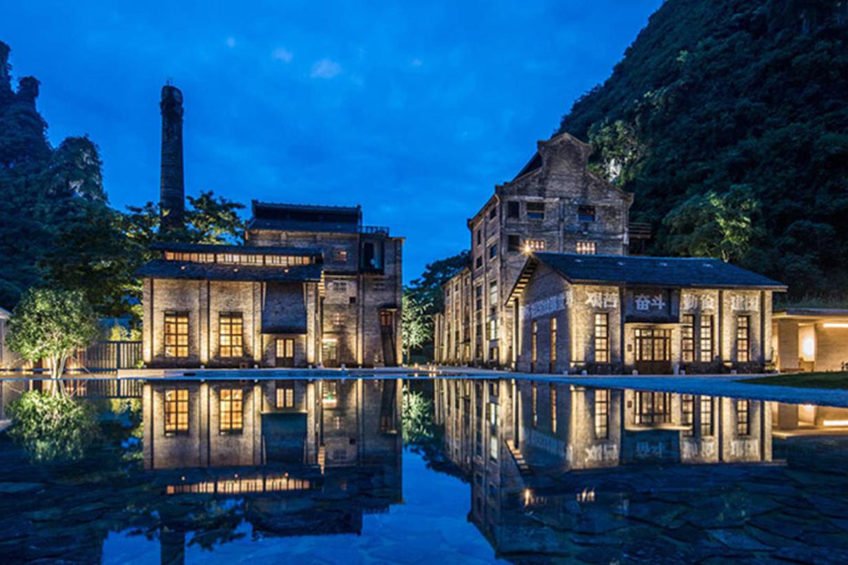 這座在桂林陽朔縣的糖廠改建,成為最華麗蛻變的現代酒店!
