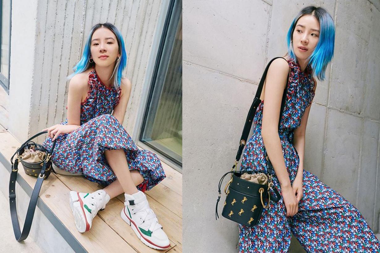 Irene Kim wears Chloé Roy Bag