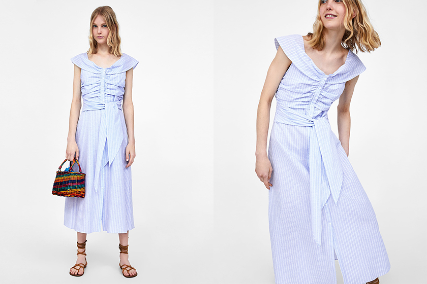 kate-middleton-zara-blue-dress-polo-match
