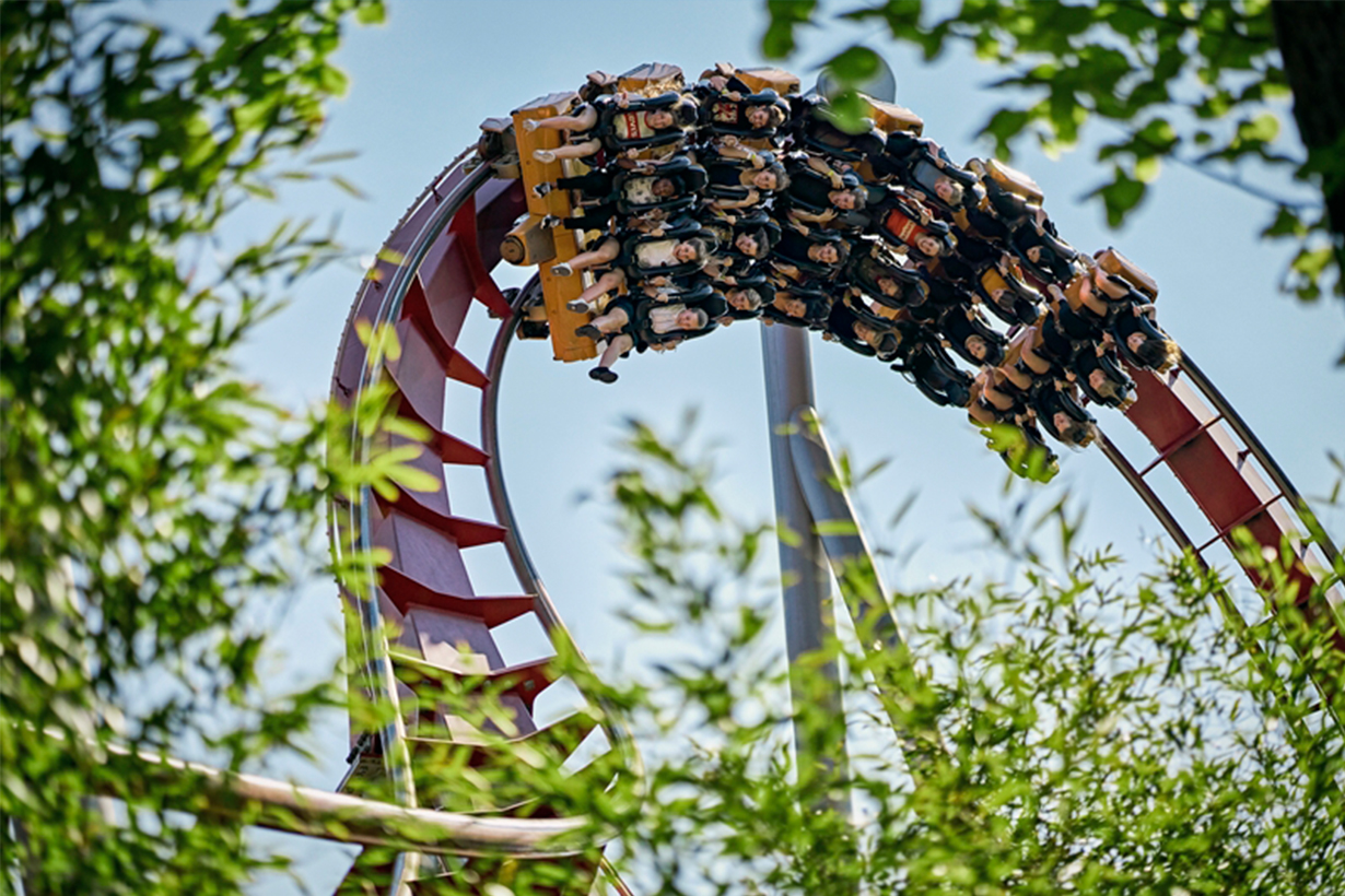 roller coaster in Tivoli Garden 3