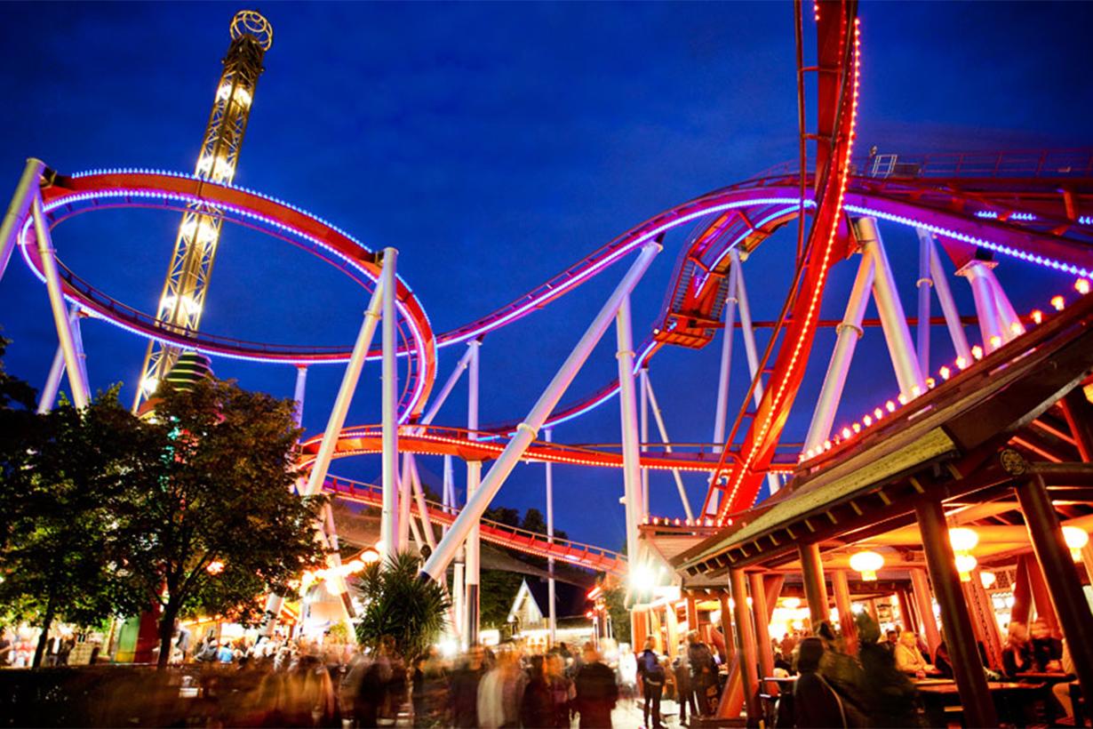 roller coaster in Tivoli Garden