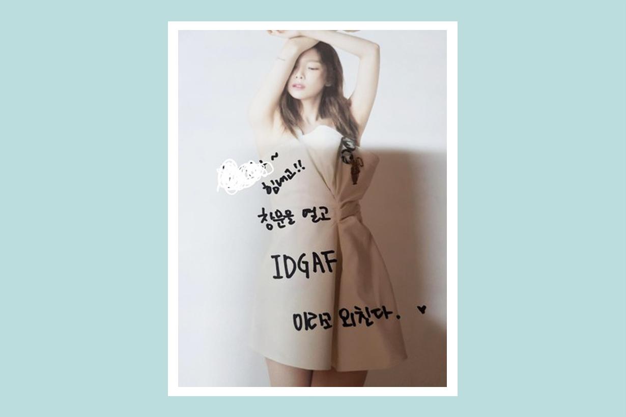 Taeyeon girls' generation snsd something new feeling pressure IDGAF fan meeting korean idol k pop