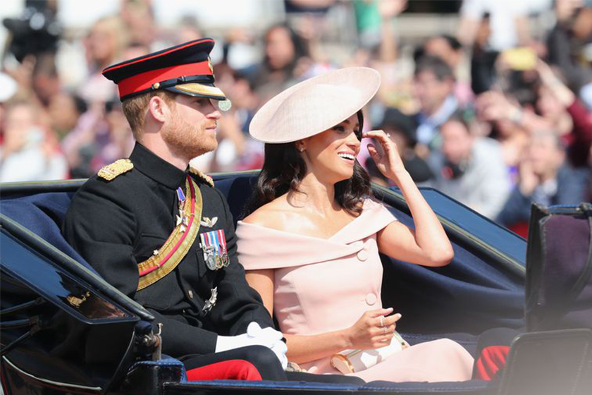 trooping the colour 2018 meghan markle breaks protocol