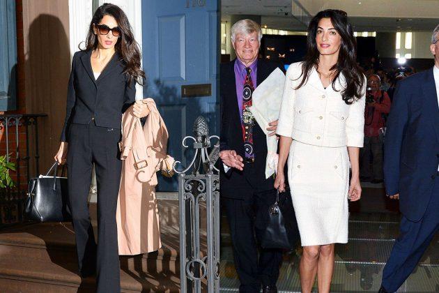 Amal Clooney Short Jacket Suit Look