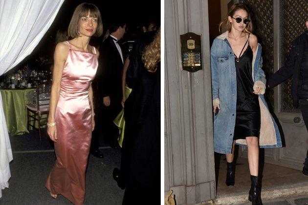 Anna Wintour Gigi Hadid Slip Dress