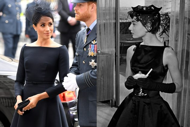 Audrey Hepburn and Meghan Markle LBD