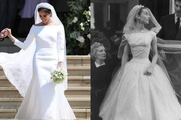Audrey Hepburn and Meghan Markle Wedding Dress