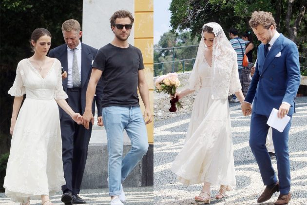 Bee Shaffer and Francesco Carrozzini in Portofino Italy Wedding