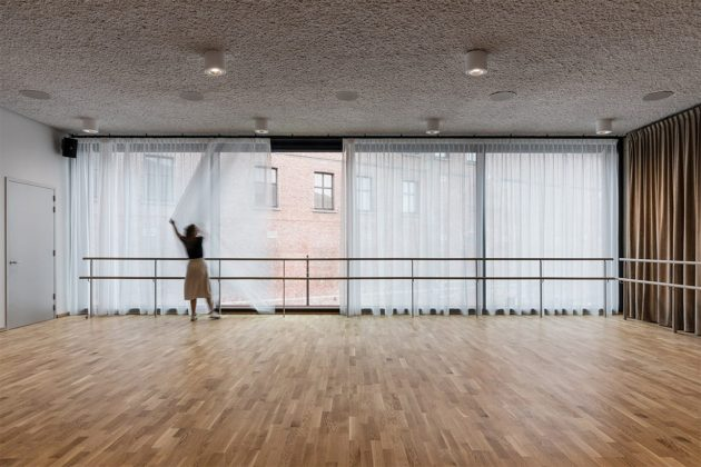 Belgium New Music School Library Modern Style Architecture Dancing Room