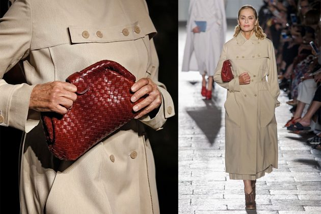 Lauren Hutton Bottega Veneta Runway clutch