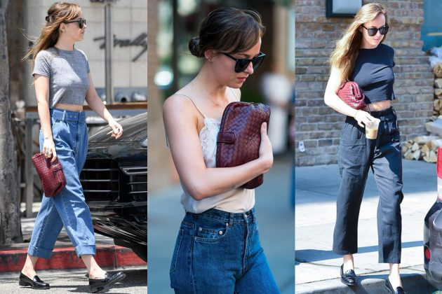 Dakota Johnson Bottega Veneta clutch Street style