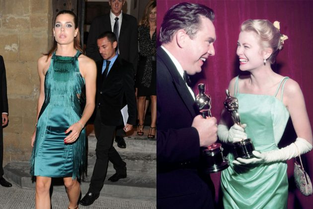 Grace Kelly Charlotte Casiraghi Green Dress