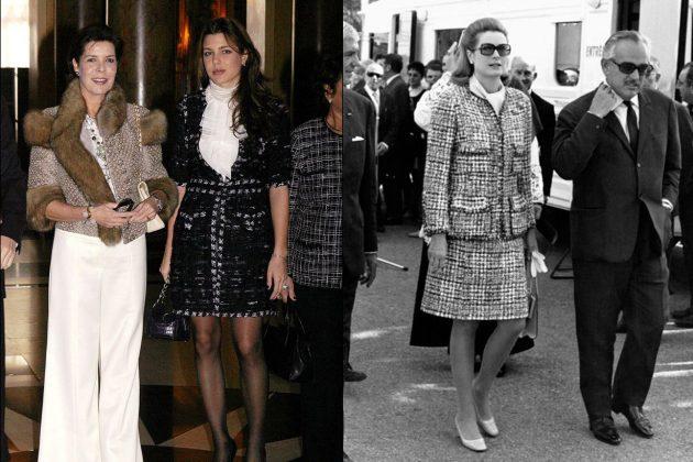 Grace Kelly Charlotte Casiraghi Tweed Set