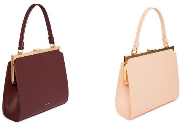 Mansur Gavriel Elegant Bag Leather Handbag Rosa Burgundy