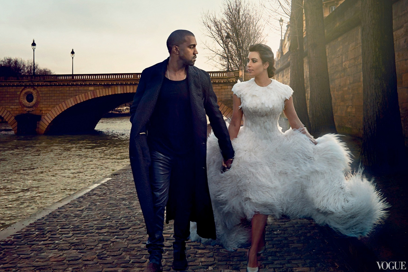Celebrity Wedding Vogue amal clooney kim kardashian cindy crawford