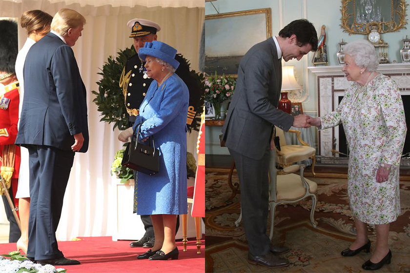 donald trump queen elizabeth meeting royal protocol