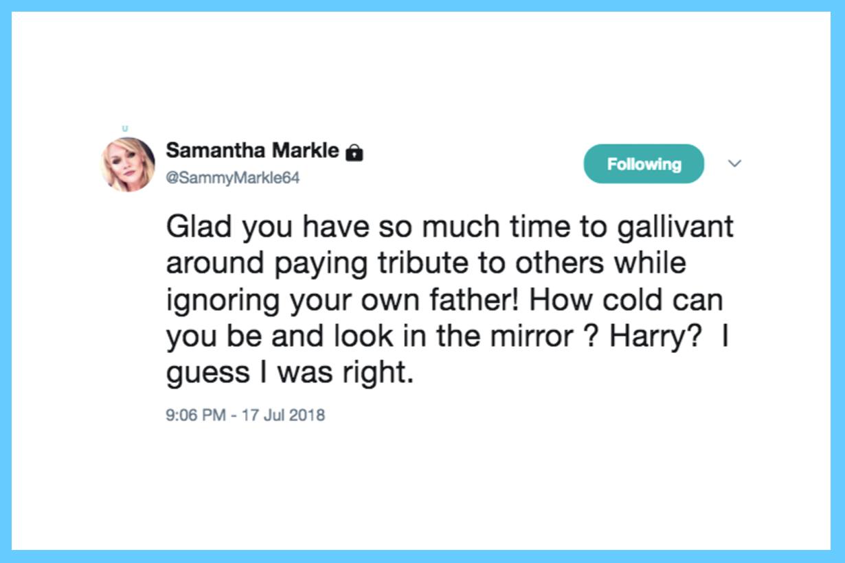 Meghan Markle Thomas Markle Father Samantha Markle Step Sister Media Interview Twitter British Royal Family