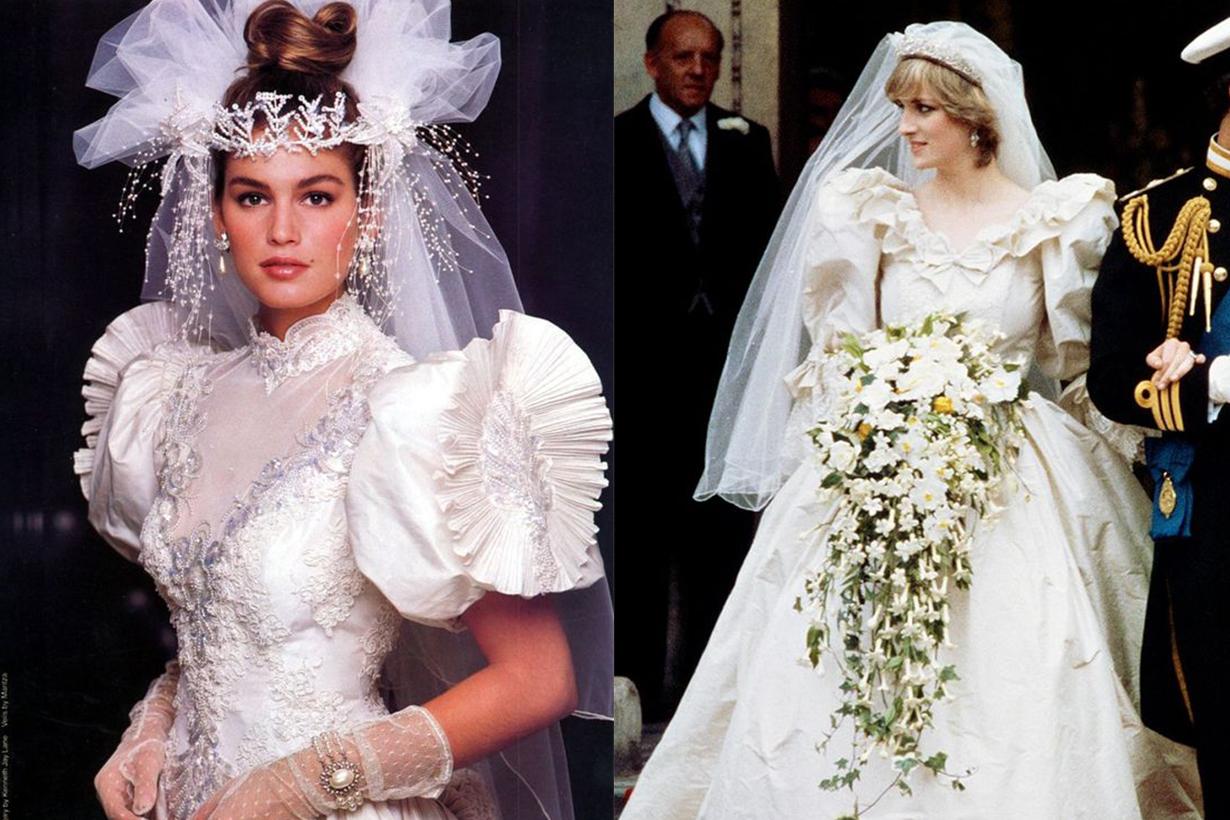 Cindy Crawford and Princess Diana Wedding Dress