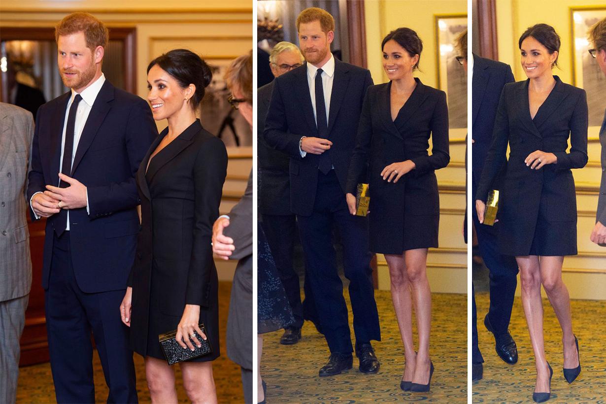 Meghan-Markle wore Judith & Charles Digital Dress to See Hamilton