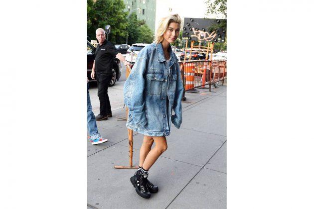 Hailey Baldwin in Gucci