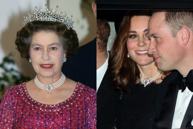 Kate Middleton wore Queen's Pearl Necklace