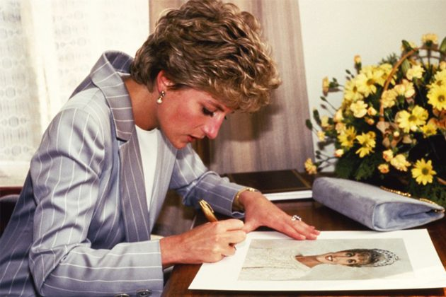 Princess Diana Writing