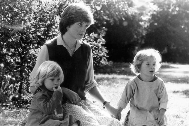 Princess Diana with kids as teachers
