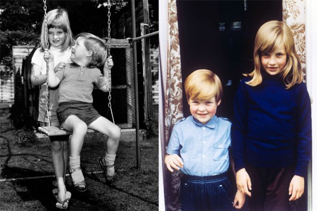 Princess Diana with her brother