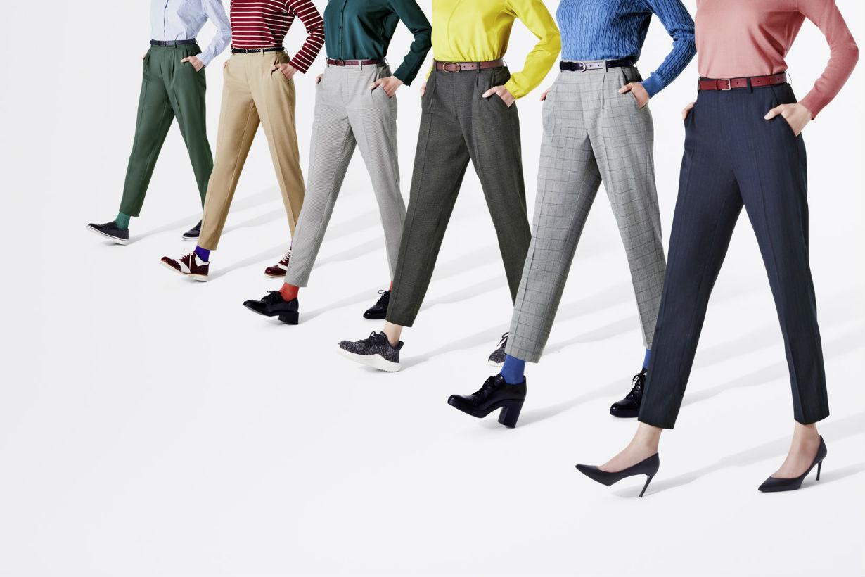 UNIQLO  calf-length pants