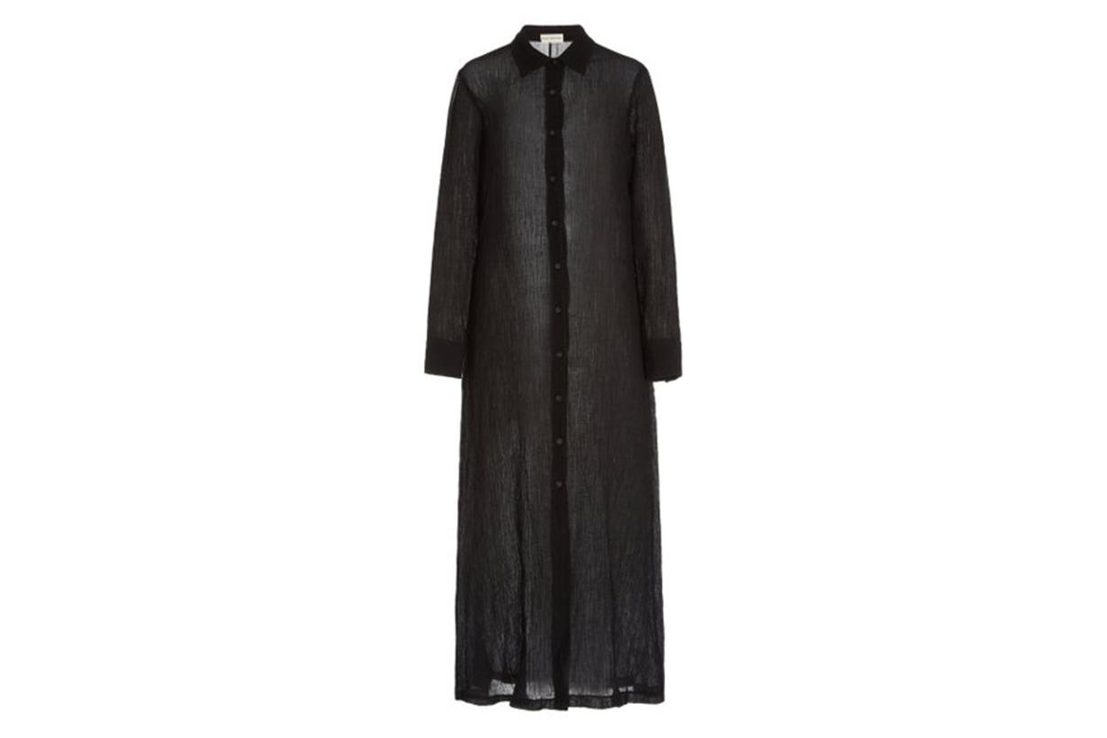 Mara Hoffman Cinzia Organic Linen-Cotton Maxi Shirt Dress