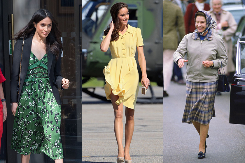 meghan markle kate middleton keep skirts from flying up