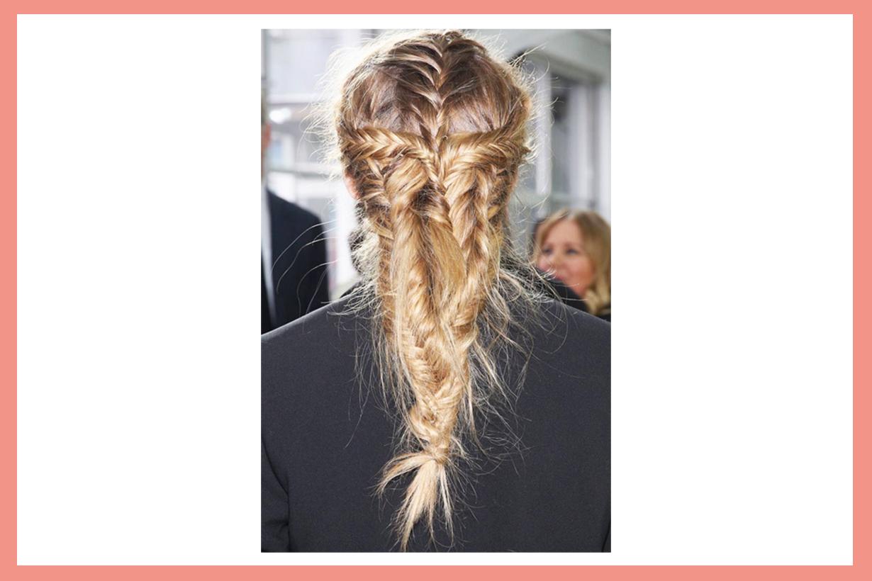 Olivia Palermo NYFW New York Fashion week Fishtail Braid Hairstyles DIY messy hairstyles
