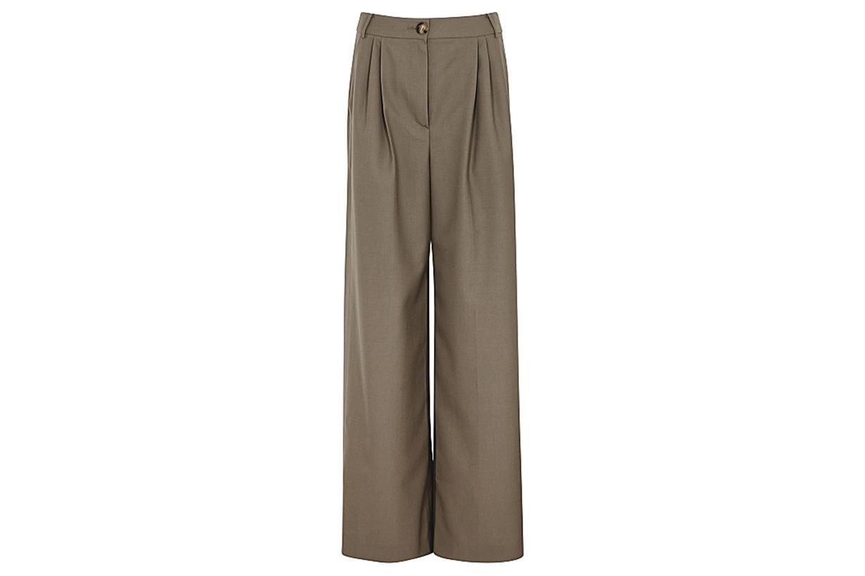 REJINA PYO  Ingrid wide-leg wool-blend trousers