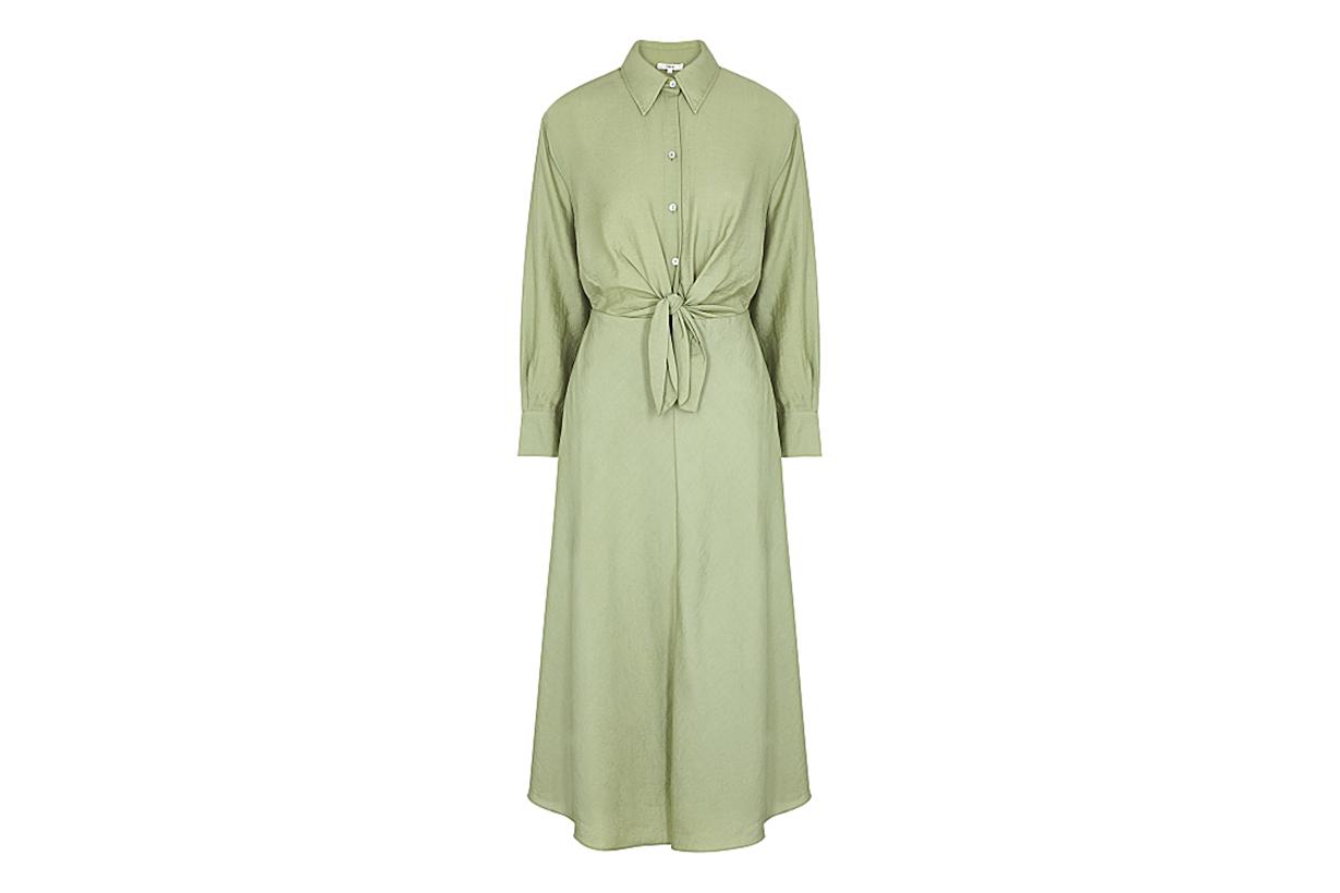 VINCE Green shirt dress