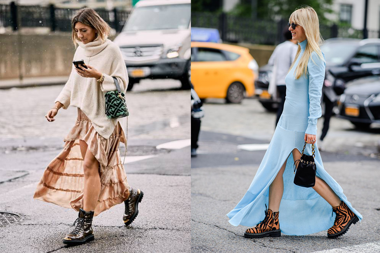 Chunky Boots Fashion Week 2019 Street Style