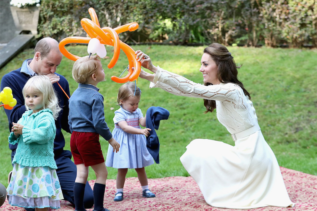 Kate-Middleton, Princess-Charlotte, Prince George and Prince Harry