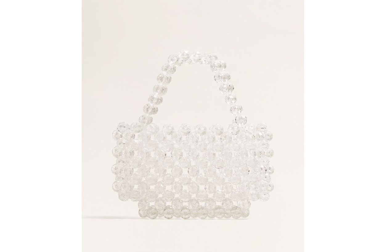 Mango Beaded See-Through Bag