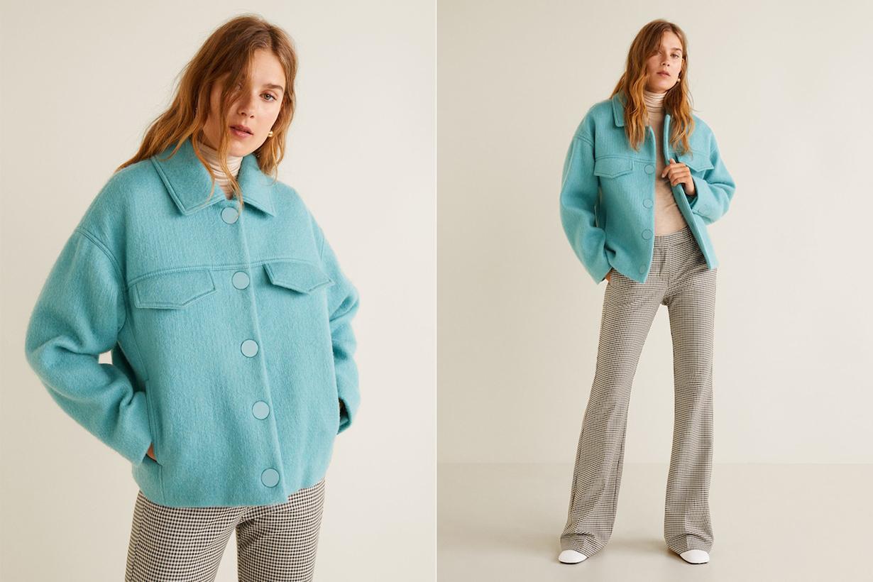 Mango Buttoned Wool Jacket