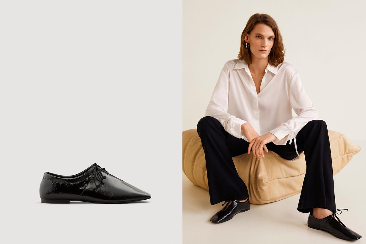 Mango Slit Leather Shoes