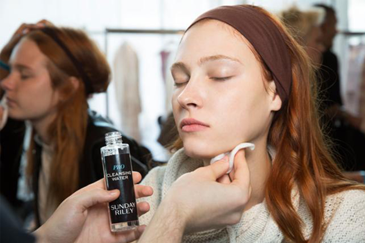 Model Backstage Skincare