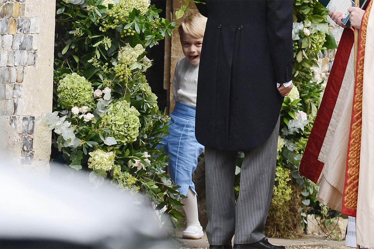 Prince George at Sophie Carter's wedding