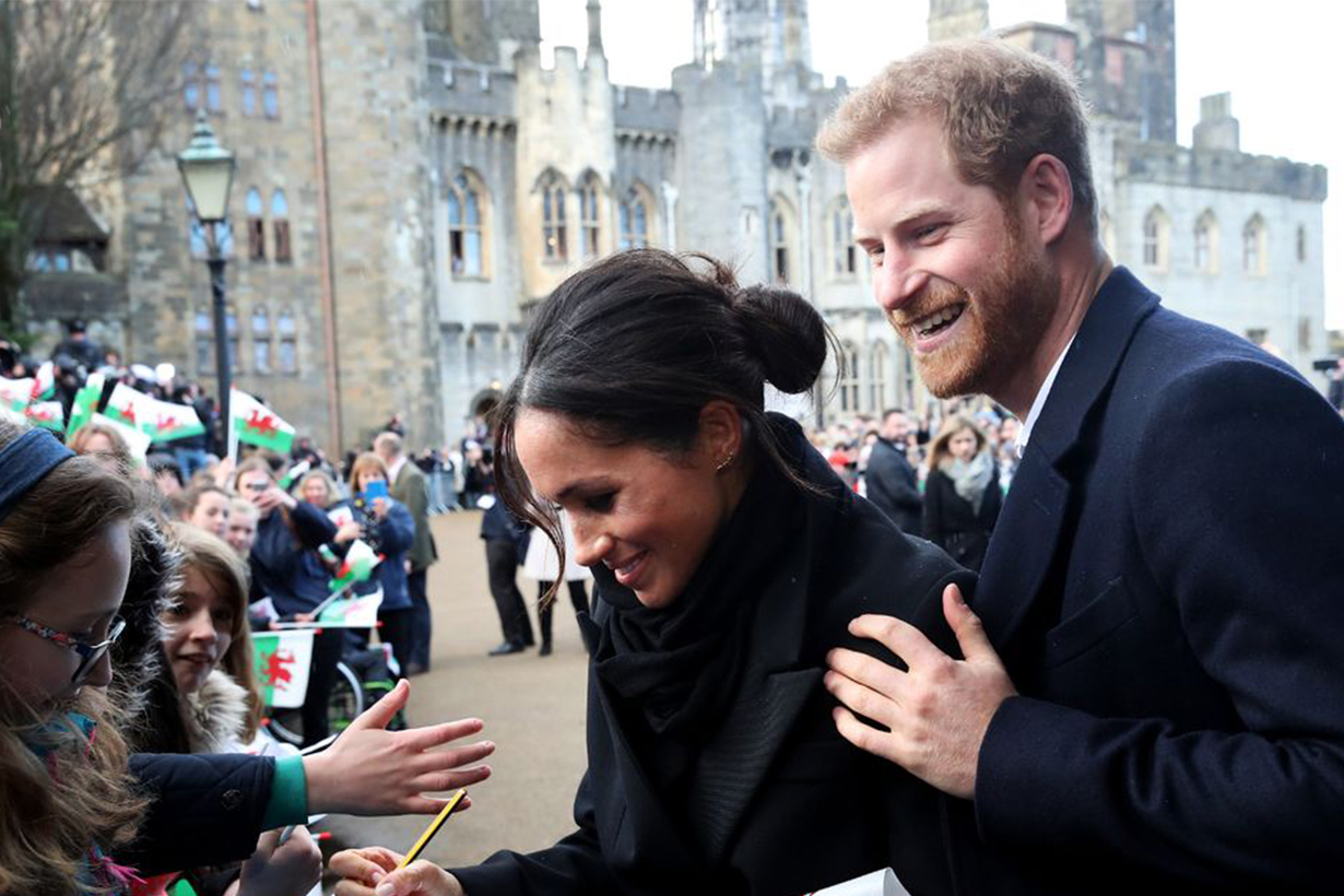 Prince Harry and Meghan Markle Visited Cardiff