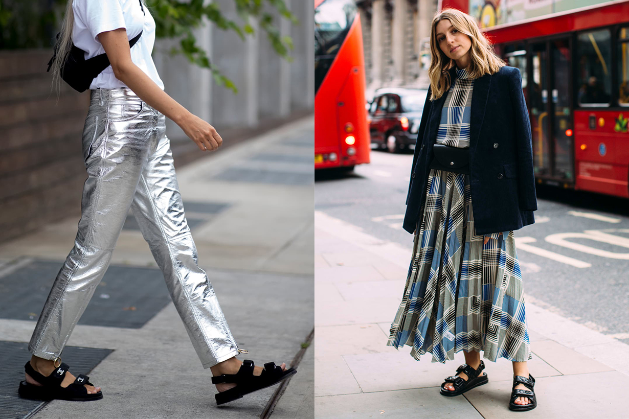 Sporty Sandals Fashion Week 2019 Street Style