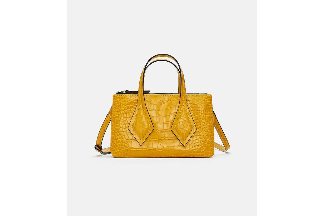 Zara Embossed Mini Shopper Bag
